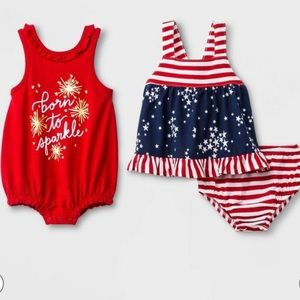 Cat & Jack Patriotic Newborn 3 Piece